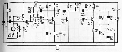 多为3~4级低频放大器,除部分电路的末级采用固定偏流式电路外,各级都
